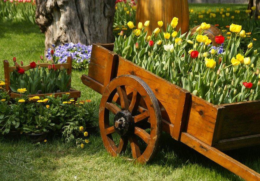 Украсьте сад передвижной клумбой