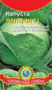 Пакет с семенами капусты Мегатон