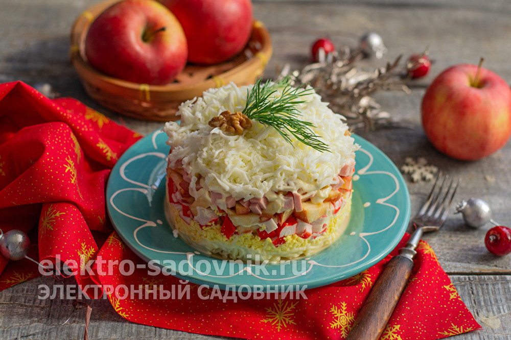 салат снежная королева
