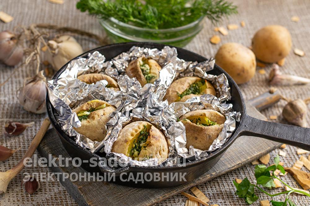 картофель в духовке как на костре