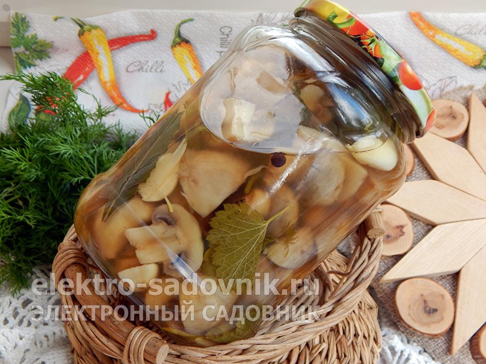 Острые грибы с кетчупом Чили