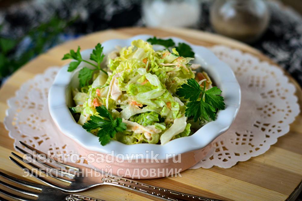 вкусный салат из капусты