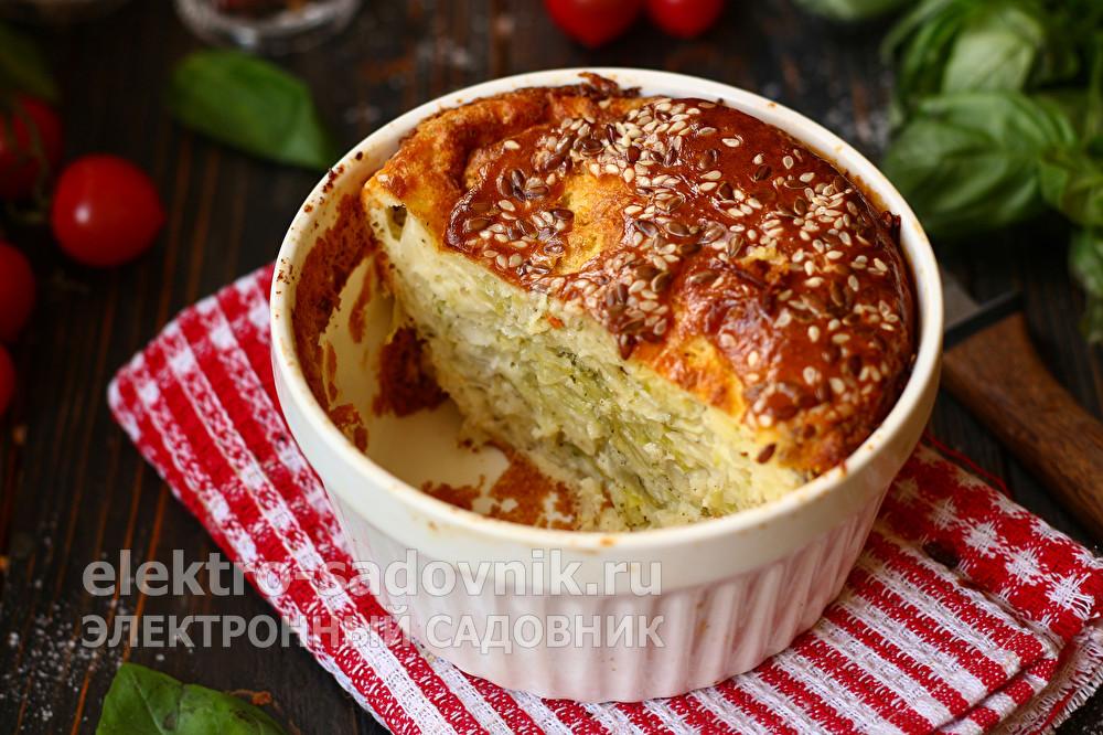 ленивый капустный пирог на кефире