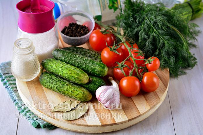 ингредиенты для маринованных черри