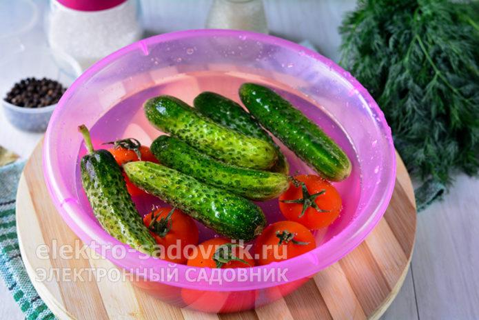 подержать овощи в воде