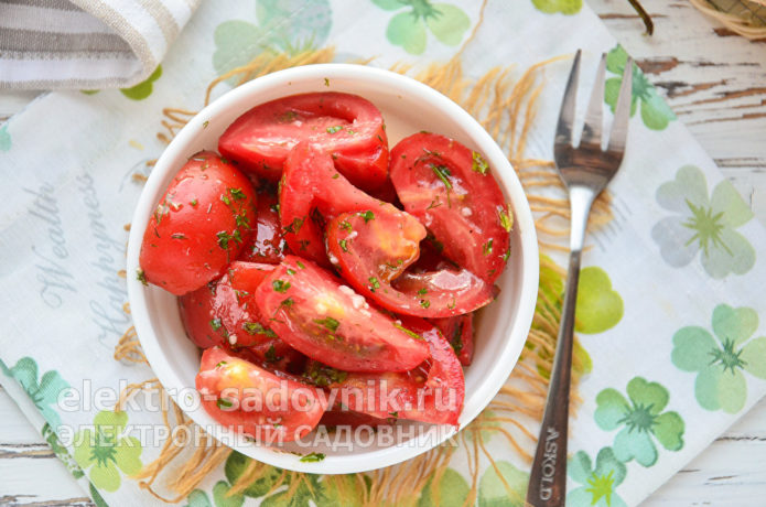 помидоры по-корейски быстрого приготовления