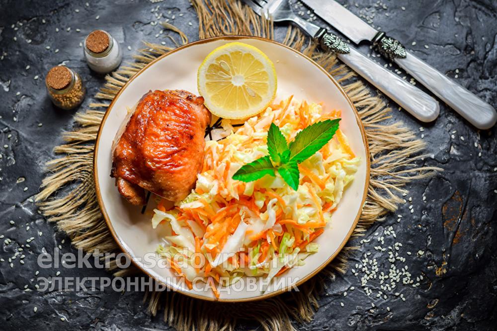 вкусный салат из капусты и моркови