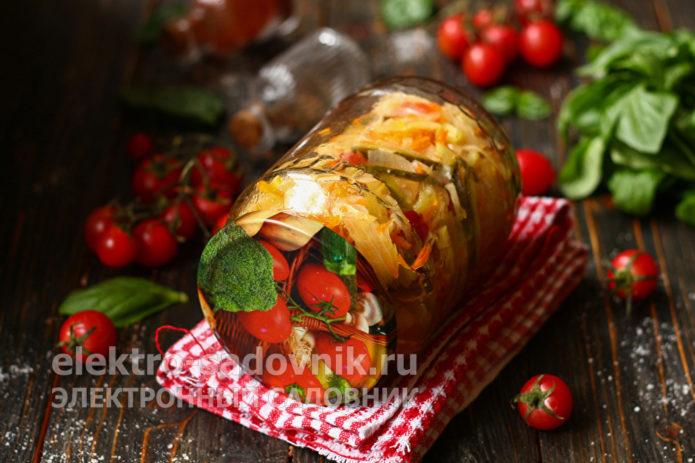 салат из овощей на зиму