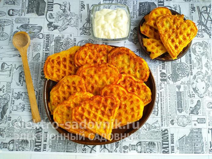 хрустящие вафли из картофеля