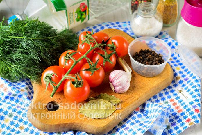 ингредиенты для заготовки черри