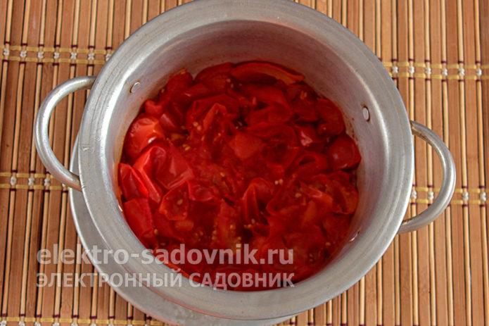 разварить томаты