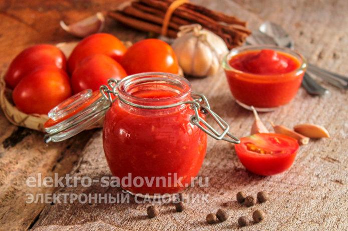 кетчуп на зиму с чесноком