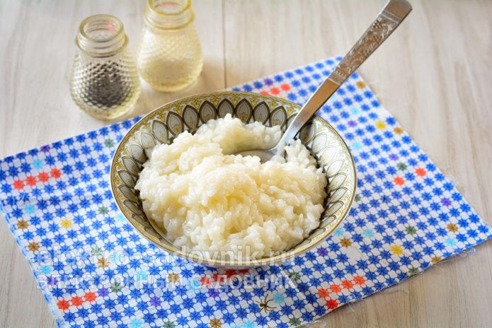 сварить рис до полуготовности