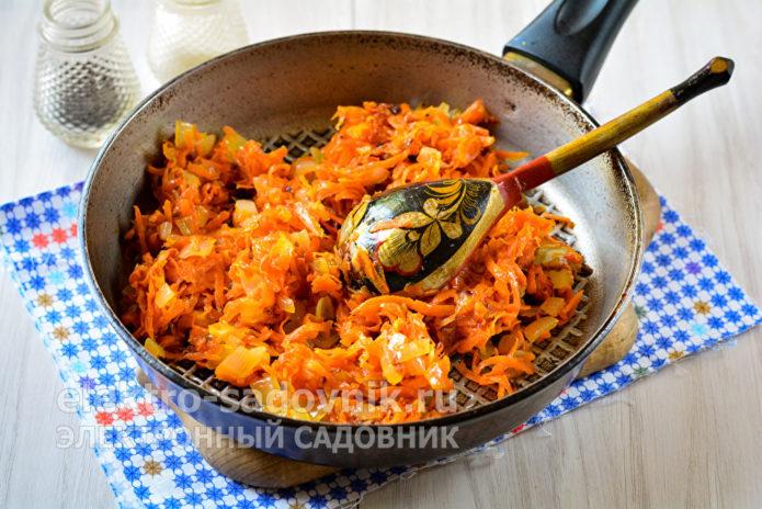 пассеровать лук с морковкой