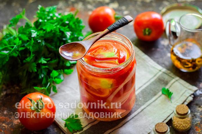 помидоры дольками без стерилизации