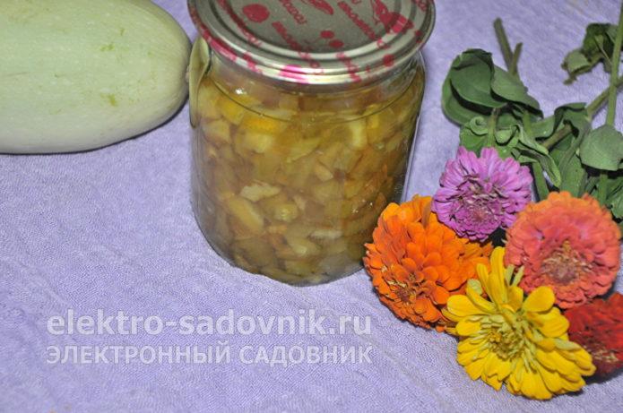 варенье из кабачков, лимона и апельсина