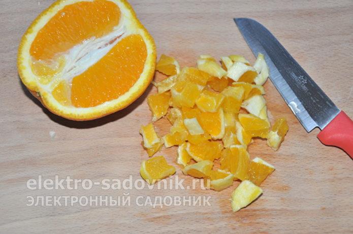 апельсин нарезать мелко