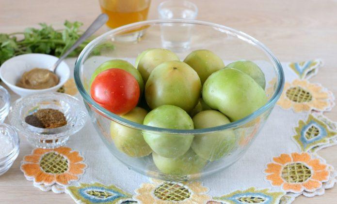 маринованные зеленые томаты