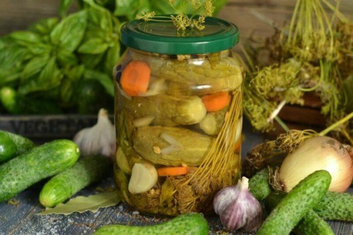рецепт огурцов на зиму