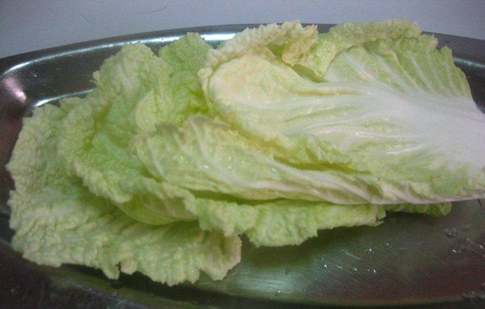 вымыть листья капусты