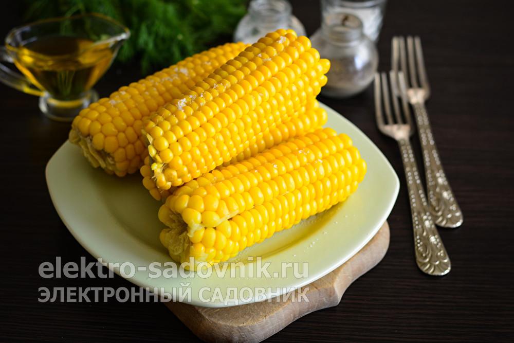 мягкая и сочная кукуруза с солью