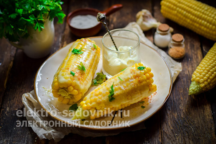 кукуруза с плавленным сыром