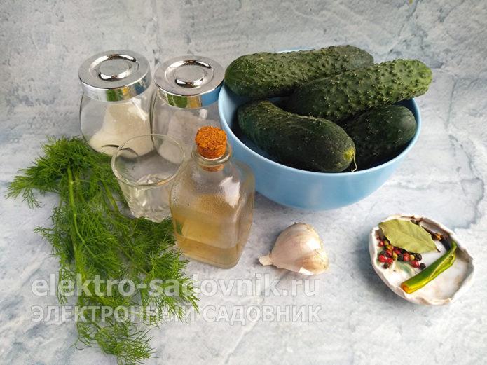 ингредиенты для ленивых огурцов