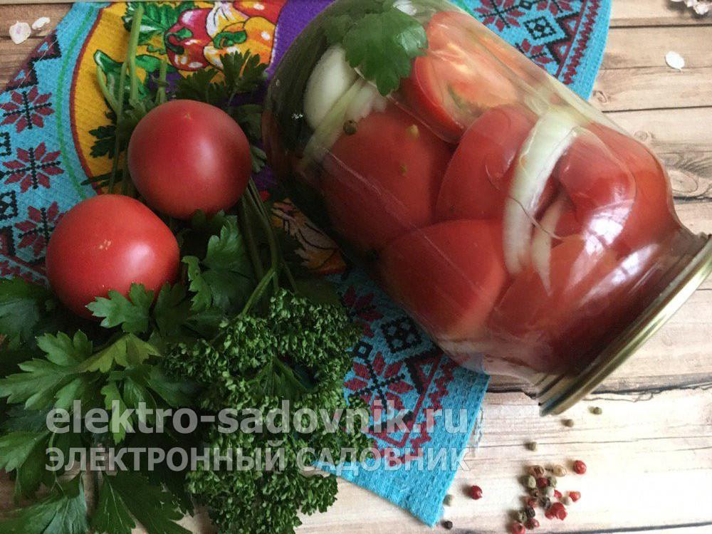 помидоры в желе на зиму без стерилизации