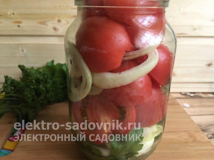 заполнить банку овощами