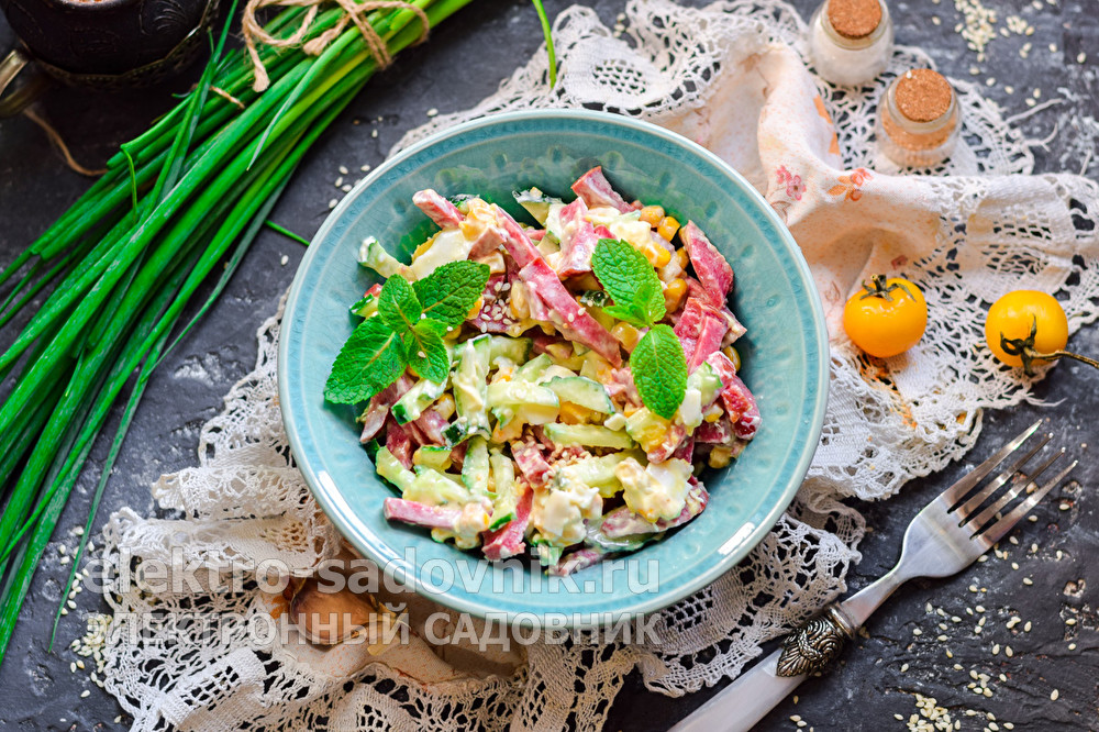 легкий салат Соломка