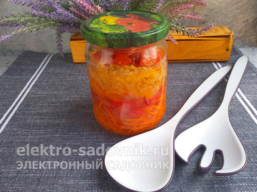 яркий ленивый салат на зиму