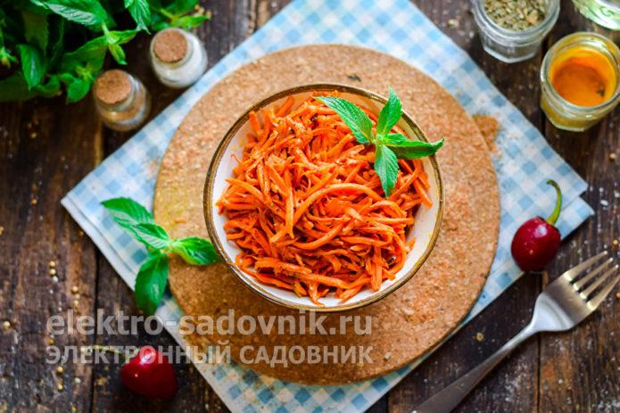 морковь по-корейски быстрого приготовления