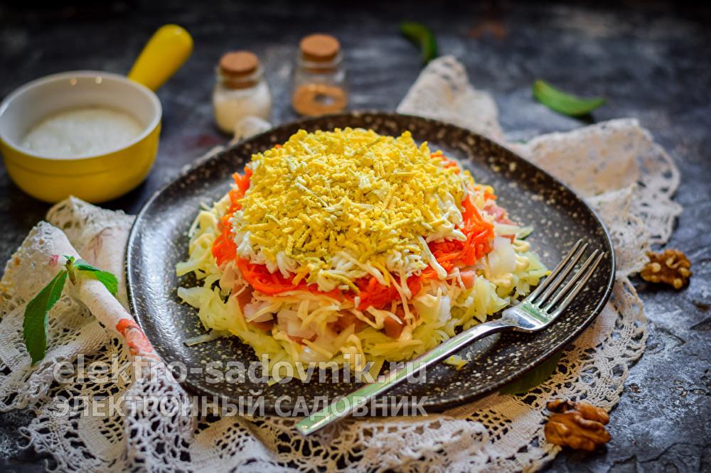 нежный салат Мимоза с горбушей