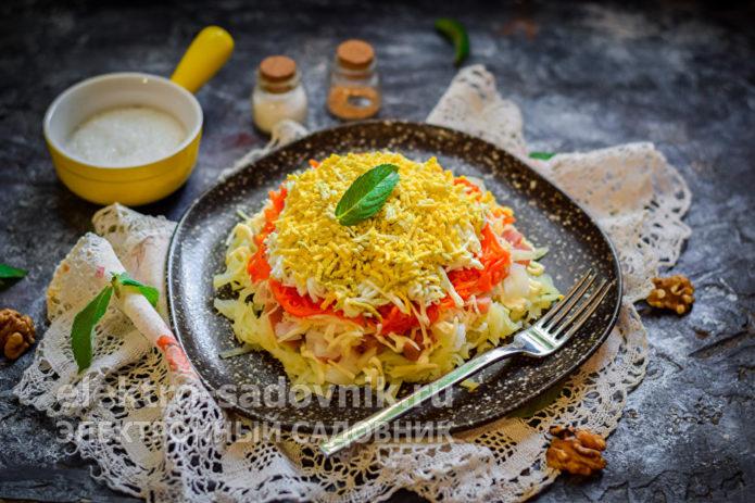 салат Мимоза с горбушей и сыром