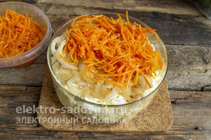распределить морковь по-корейски