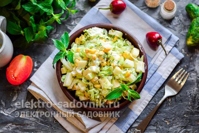 салат из пекинской капусты с яблоком