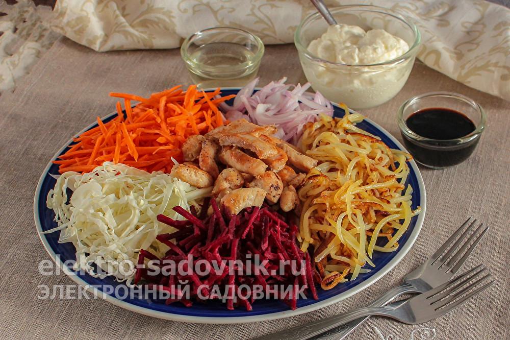 праздничный салат Торнадо