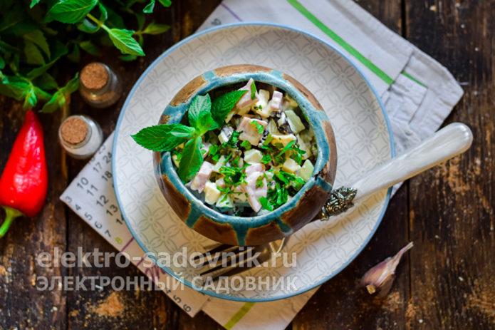 оригинальный салат Женский каприз