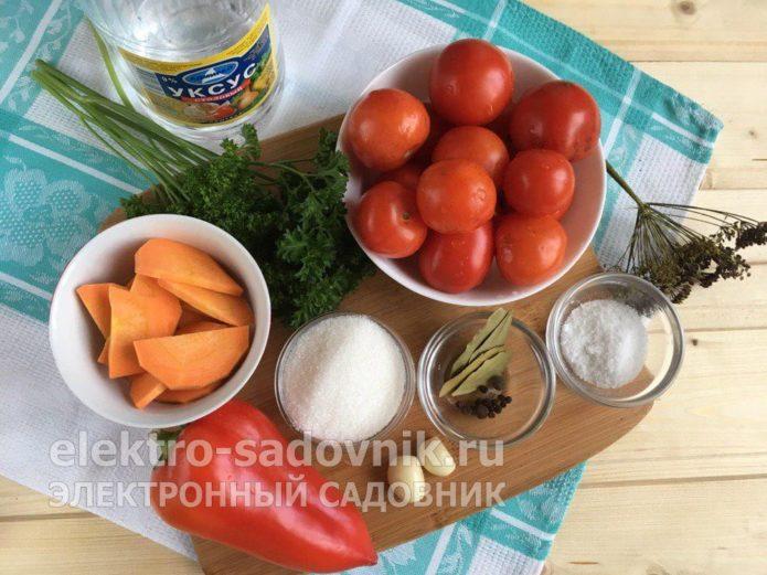 ингредиенты для маринованных помидоров