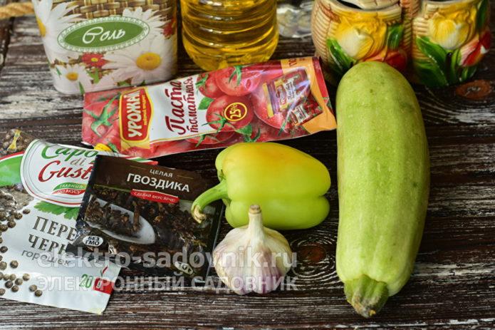 ингредиенты для заготовки тещин язык