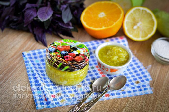 кабачковое варенье с цитрусами