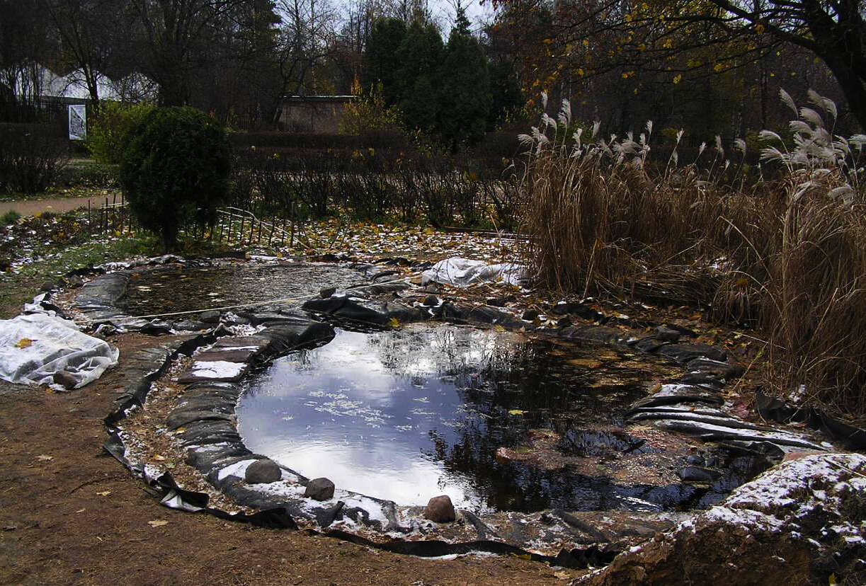 Как и чем укрыть пруд на зиму