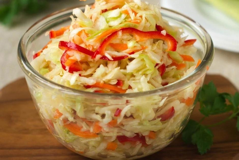Салаты из капусты с болгарским перцем - рецепты с фото очень вкусные