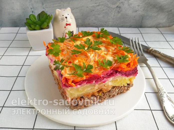 Простые, но очень вкусные салаты из вареной свеклы