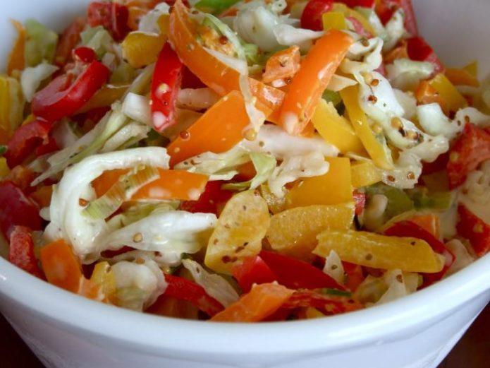 Очень вкусные салаты из капусты с болгарским перцем