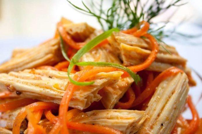 приготовление моркови со спаржей