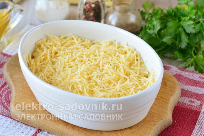 присыпать тертым сыром